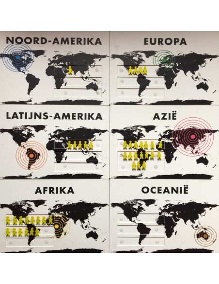 Het aantal vluchtelingen volgens waar ze worden opgevangen.